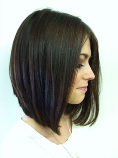 Long angled bob- Really thinking about going with this cut again for the summer! :) For some reason, I always get nervous about going shorter though..: