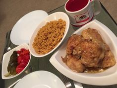 Chicken and rice with pickles