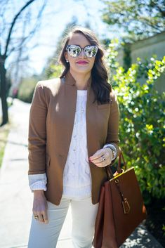 Beige and White Casual Spring Look | Covering the Bases | Fashion and Travel Blog New York City