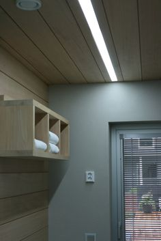 Pukuhuone | Kodin valaistus Changing Room, Sauna, Blinds, Curtains, Bathroom, Basement, Spaces, Home Decor, Ideas