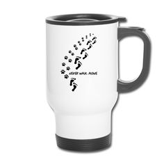 Thermal Travel Mug, Thermal Mug, Walk Alone, Dog Travel, Dog Walking, Mugs, Tableware, Products, Tumblers