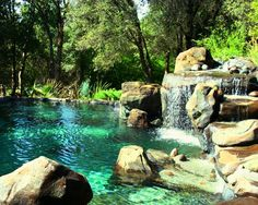 Fantastic Sense of Natural Rock Swimming Pool Design Ideas: Landscape Pool…