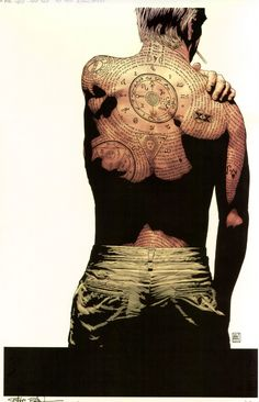 tim bradstreet - constantine | Posting again to say that this tattoo is probably the Seal of Hermes (http://www.insanerantings.com/hell/comics/annotations/hb181ann.html)