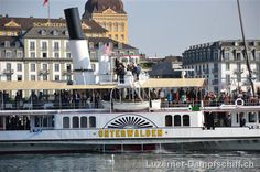 steamboat Unterwalden in Lucerne 2011 Steamboats, Lucerne, Cruises, Switzerland, River, Spaces, Country, City, Rural Area