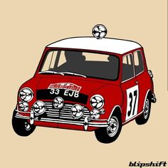 I draw cars as well . Recent commission work for designed for screenprinting on. Mini Cooper Classic, Classic Mini, Classic Cars, Pop Art Tattoos, Nut Bolt, Mini Coopers, Screenprinting, Minis, Draw