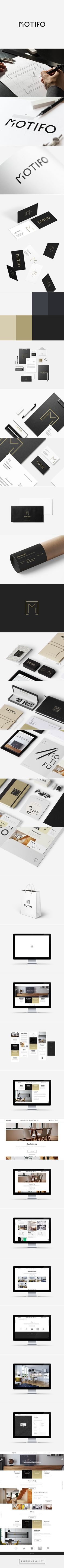 MOTIFO - Interior Design Architect Branding & Website on Behance. - a grouped images picture - Pin Them All Web Design, Design Typo, Brand Identity Design, Graphic Design Branding, Logo Branding, Creative Design, Branding Website, Brand Design, Logo Inspiration