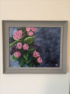 Roses and Grapes Original Framed Artwork