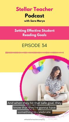 Do you know how to help your students set reading goals effectively? Maybe it hasn't gone right in the past and you are ready to focus on it this year? In this podcast, I will help you understand the purposes of setting reading goals, 3 levels of goals your students should be making and how to keep your students motivated to reach their goals. Teaching 5th Grade, 5th Grade Reading, Student Reading, Help Teaching, Teaching Reading, Guided Reading, Reading Resources, Reading Strategies, Reading Comprehension
