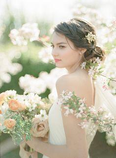 Cherry Blossom Bridal Photos #weddings #weddingideas #winecountry #fineartweddings #springwedding #cherryblossoms