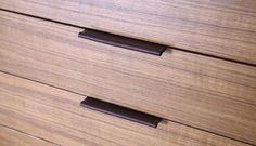 leather drawer pulls (via Remodelista) Furniture Handles, Leather Furniture, Cool Furniture, Furniture Design, White Furniture, Building Furniture, Furniture Market, Furniture Movers, Furniture Ideas