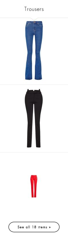 """""""Trousers"""" by erica-tais ❤ liked on Polyvore featuring jeans, mid denim, button-fly jeans, high waisted button jeans, high rise jeans, blue jeans, high-rise flared jeans, pants, black and print pants"""