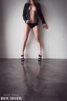 Leather jacket boudoir! Ooh la la! | Austin TX Boudoir Photographer Click Chick Boudoir  Austin Boudoir Studio I www.ClickChickBoudoir.com