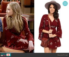 Maya's red floral long sleeve dress on Girl Meets World.  Outfit Details: https://wornontv.net/57829/ #GirlMeetsWorld  Buy it here: http://wornon.tv/36226