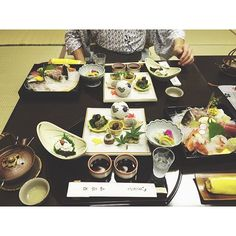 The first of our seven course #kaiseki meal #hakone  by jessassy