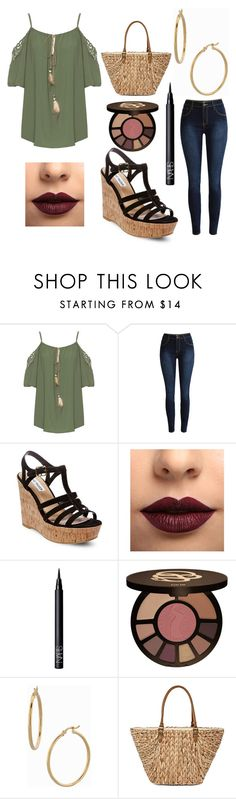 """""""Random Outfit Series 2 #12"""" by otaku-kitten ❤ liked on Polyvore featuring WearAll, Steve Madden, LASplash, NARS Cosmetics, tarte, Bony Levy and Straw Studios"""