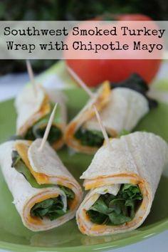 Southwest Smoked Turkey Wrap with Chipotle Mayonnaise