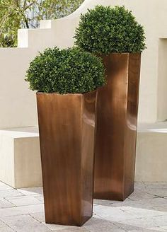 A Grandin Road exclusive, this Steel Column Planter is fit to beautify any front porch or garden.