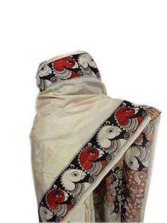 rachanabinoy Kalamkari Dresses, Kalamkari Saree, Saree Painting, Fabric Painting, Kerala Saree, Indian Sarees, Soft Silk Sarees, Cotton Saree, Kalamkari Designs
