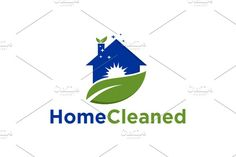 Home Cleaned | logo Template by REDVY on @creativemarket