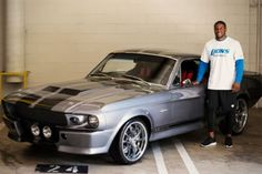 Reggie Bush and his 1967 Shelby Mustang GT 500