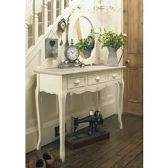 Rural Chic Range - Cream Wooden 3 Drawer Dressing/Console Table - Rural Chic - Browse by Range