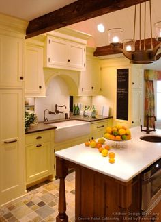 #Kitchen Idea of the Day: Classic YELLOW Kitchens. (By Crown Point Cabinetry)