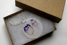 shrinky dink necklace. cute diy for a gift from a kid.