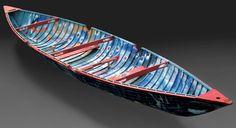 Jean Paul Riopelle, Canot à glace, 1992, techniques mixtes sur bois, 724 x 56 x 168 cm