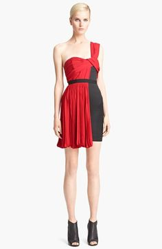 Love the neckline on this Jason Wu dress!  Jason Wu One Shoulder Pleated Dress available at #Nordstrom