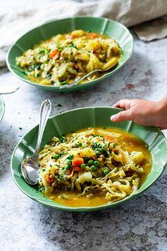 Vegan Dinner Recipes, Vegan Dinners, Vegan Recipes Easy, Whole Food Recipes, Vegetarian Recipes, Meal Recipes, Cabbage Stew, Cabbage Soup Recipes, Vegan Comfort Food