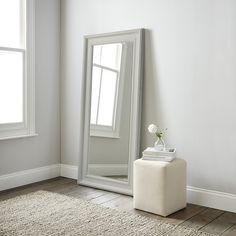 Kopardal bed frame gray lur y in the corner the for Grey floor length mirror