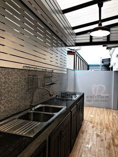Ideas Apartment Patio Small For 2019 Loft Kitchen, Backyard Kitchen, Kitchen Sets, Kitchen Interior, Dirty Kitchen Design, Outdoor Kitchen Design, Dirty Kitchen Ideas, Home Room Design, House Design