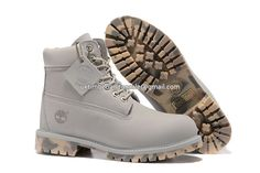 UK Timberland Women 6 Inch Waterproof Boots Grey Camo-Outsole £ 67.19