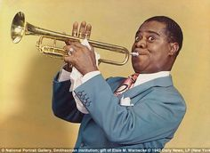 Louis Armstrong Louis Armstrong was a jazz musician that sang vocals and played various instruments, including the trumpet as pictured.