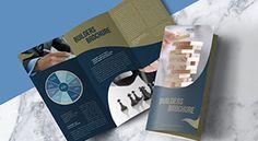 Free Modern Premium Tri-Fold Brochure Mock-up PSD File