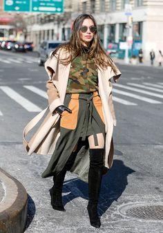 Moda bota de cano longo domina as ruas de Nova York | Estilo Vip