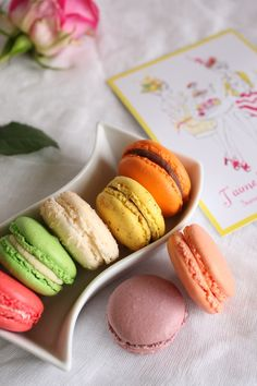 Great dish to present or photograph macarons in - pretty =)