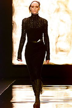 Donna Karan Fall 2001 Ready-to-Wear Fashion Show - Hannelore Knuts, Donna Karan
