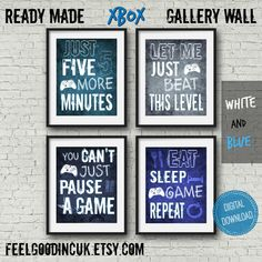 Video Game Quotes, Video Game Posters, Video Game Decor, Video Game Art, Gaming Wall Art, Game Room Decor, Boy Decor, Kids Decor, Color Changing Led