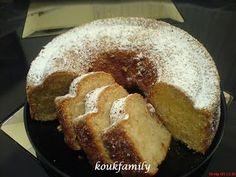 Greek Sweets, Greek Desserts, Greek Recipes, Eggless Desserts, Vegan Dessert Recipes, Cake Recipes, Cooking Cake, Cooking Recipes, Meals Without Meat