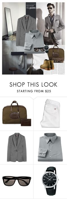 """My boyfriend's set"" by miska-miska ❤ liked on Polyvore featuring Hermès, Hollister Co., STELLA McCARTNEY, Van Heusen, Calvin Klein, Lorus, FOSSIL, Vegetarian Shoes, animal print shoes and boys"