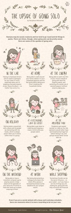 9 Enjoyable Ways to do Things Alone [infographic]
