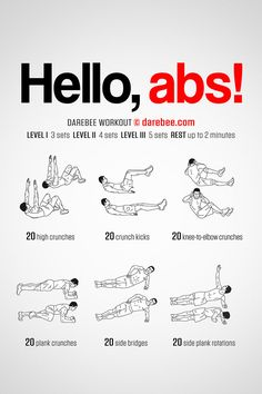 beginner abs workout  exercise  pinterest  workout