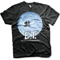 Hybris E. - Bike In The Moon unisex T-shirt zwart - Film merchandise Mode Geek, Camisa Vintage, Star Wars Shop, Madrid Barcelona, Movie T Shirts, Funko Pop Vinyl, Boutique Shop, Marvel Dc Comics, Mens Tops