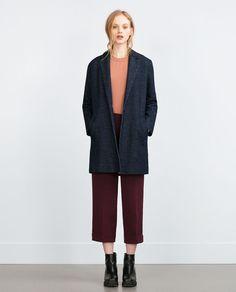 Image 1 of DENIM COAT from Zara