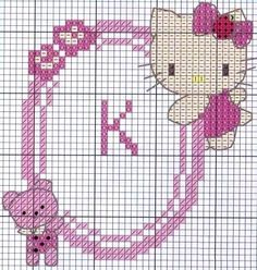 Hello Kitty frame hama perler beads pattern