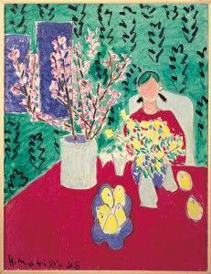 Henri Matisse, Branche de prunier, fond vert, 1948