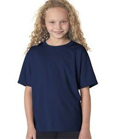 NB7118B New Balance NDurance® Youth Athletic T-Shirt Navy