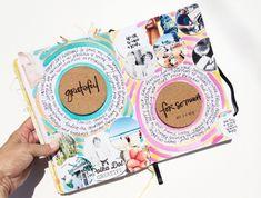 Art Journal, 2014 | October Prompt with Get Messy | Gratitude. | Polka Dot Creative