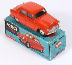 Corgi Toys 201M Austin Cambridge Mechanical rare color Pic. by www.QualityDiecastToys.com